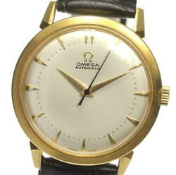 Omega 18k Yellow Gold Antique Cal.354 Silver Dial Automatic Menand039s Watch_546613