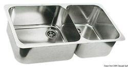 Sink Double 600 X 12 19/32in Stainless Branded Osculati 50.186.80