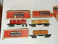 Lionel Frieght Cars  2679 Baby Ruth Box 2680 Shell Tank Car, 2682 Caboose