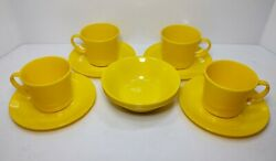 Texas Ware Cups/mugs And Saucers And Desert/cereal Bowls Mid Century Modern 4 Each.