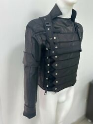 Civil War Winter Soldier Vest Jacket With Sleeve Made Of Genuine Leather