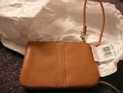 WRISTLET COACH LEATHER CAMEL COLOR NEW IN BOX $58.00