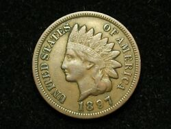 2021 Sale Xf 1897 Indian Head Cent Penny W/ Diamonds And Full Liberty 104