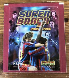 Panini 2005-06 Super Barca Sealed Pack Sticker Packet Messi Rookie Year Rare📈
