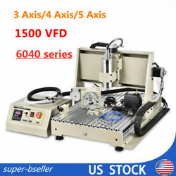 Cnc 6040 Engraver Metal Cutting Milling Machines - Usb 3axis/4axis/5axis 1.5kw