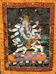 Textile Thangka Painting Tapestry Embroidery Tangka Wall Hanging Buddhist