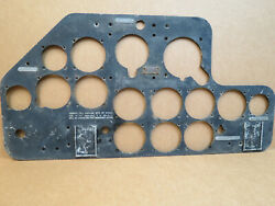 Wwii Original North American Aviation Aircraft Snj At-6 Front Instrument Panel