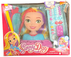 New Sunny Day Styling Head Playset Hair Braid Crimp Curl Brush Fisher Price Nick