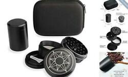 Herb Grinder, Stash Box Combo Kit With Aluminum Alloy 2.5 Large 4 Piece
