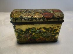 Antique Russian Early 1900 Candy/tea Tin Box Embossed Lithography B Bbicoukin