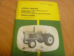John Deere 3020 Row Crop Utility Grove And Orchard Tractor Owner Operator Manual