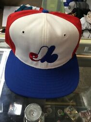 Nwot Vintage Montreal Expos Universal Pro Wool Snapback Hat Cap New W/o Tag