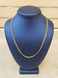Elsa Peretti 18k Yellow Gold Mesh Necklace 24 Long Pre-owned