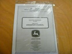 John Deere 47-inch Quick-hitch Snowblower Owner Operator Manual Omm145749 New