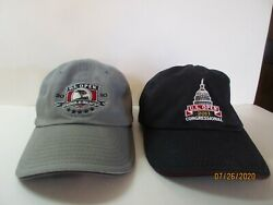 U.s. Open 2010 And 2011 Golf Hats/caps Pebble Beach And Congressional