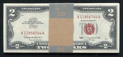 25 Consecutive 1963 2 Legal Tender United States Notes Gem Uncirculated