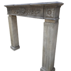 Fireplace In Stone Lecce Antique Carved By Hand Frame L.51 3/16in