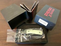 Pena X-series Trapper Front Flipper Natural G10 Scales Black M390 Factory Sealed