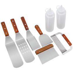 Grill Spatula Stainless Steel Grillware - 8 Pieces High Performance Stainless