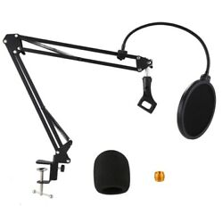 Microphone Stand Suspension Boom Scissor Arm Stands With 3/8-5/8 Screw / Table