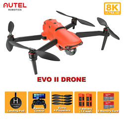 Autel Evo 2 Camera Drone 8k Uhd Quadcopter Foldable With 2 Battery Landing Pad