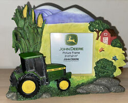 """John Deere Tractor Company Resin Photo/ Picture Frame 2 1/2"""" X 2 1/2"""""""