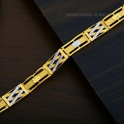 22k Yellow Gold Menand039s Bracelet Beautifully Handcrafted Diamond Cut Design 196