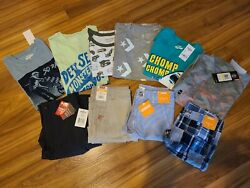 Nwt Boys' Clothes Lot Size 10 Spring / Summer S/s Shirt Shorts
