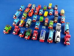 35+ Piece Set Of Metal Thomas Take-along Train Engines And Tenders