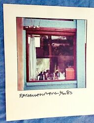 Rauschenberg Large Photo Signed Numbered Summerhall