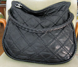 Authentic CHANEL Bag Lambskin Quilted Hidden Chain Hobo HandBag Purse Excellent $1700.00