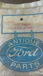 Ford Model A 12 Data Plate Horn Drive Rivets 100 Steel 1928-1931