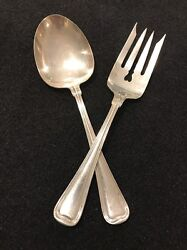 A Set Of Formal Sterling Silver Serving Fork And Spoon Pieces Pat 1914