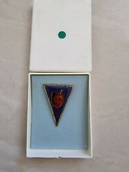Stasi East German Kgb Mfs Officer High Academy Official Pin In Original Case
