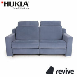Hukla Sofastyle Fabric Sofa Blue Two Seater Function Relaxfunktion Couch Sofa
