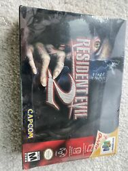 Resident Evil 2 N64 First Print Red . Slight Box Crush As Is . Sealed New .