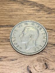 1949 One Shilling English Crest Great Britain Coin