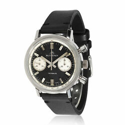 Bucherer Chrono Chrono Menand039s Vintage Watch In Stainless Steel