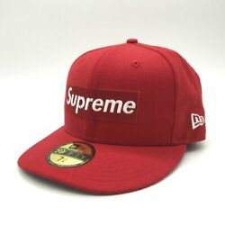 16aw Box Logo Cap Rip Hat Collaboration Mens Size 71/4 Red Clothing Accessories