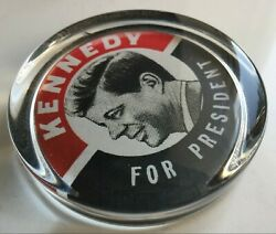John F Kennedy -- Heavy Vintage 1960 Presidential Campaign Button Paperweight