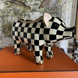 Mackenzie-childs Large Courtly Check Pig Figure