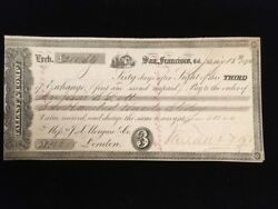 Used 3rd Bill Of Exchange Tallant And Co San Francisco 1871 £200 To J.s. Morgan
