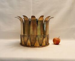 Antique Brass Jardiniere Planter Converted Ww1 Shell Case Arts And Crafts Style.