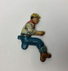 Vintage Marx Toys Tin Litho Driver For Tractor Crawler Wind Up