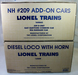 Lionel 52423 And 52447 Lcca New Haven Alco Passenger Set And Add-on Set Sealed Obs