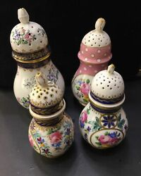 Antique Collection Spice Porcelain Jar Hand-painted Stamped