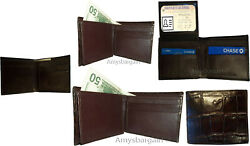 Lot Of 5 Crocodile Skin Printed Leather Manand039s Bifold Wallet Id 2 Billfolds New