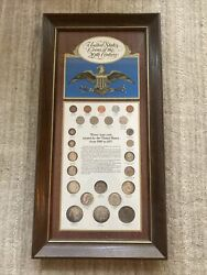 U.s. Coins Of The 20th Century Framed Coin Set Every Type Coin Silver 1900-1971