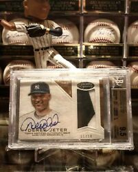 2016andnbspderek Jeter Topps Dynasty Game Used Jersey Auto Bgs 9.5/10 /10