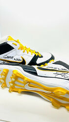 Hines Ward Steelers Signed Game Used Pair Of Cleats Hines Ward 86 Coa Both Auto